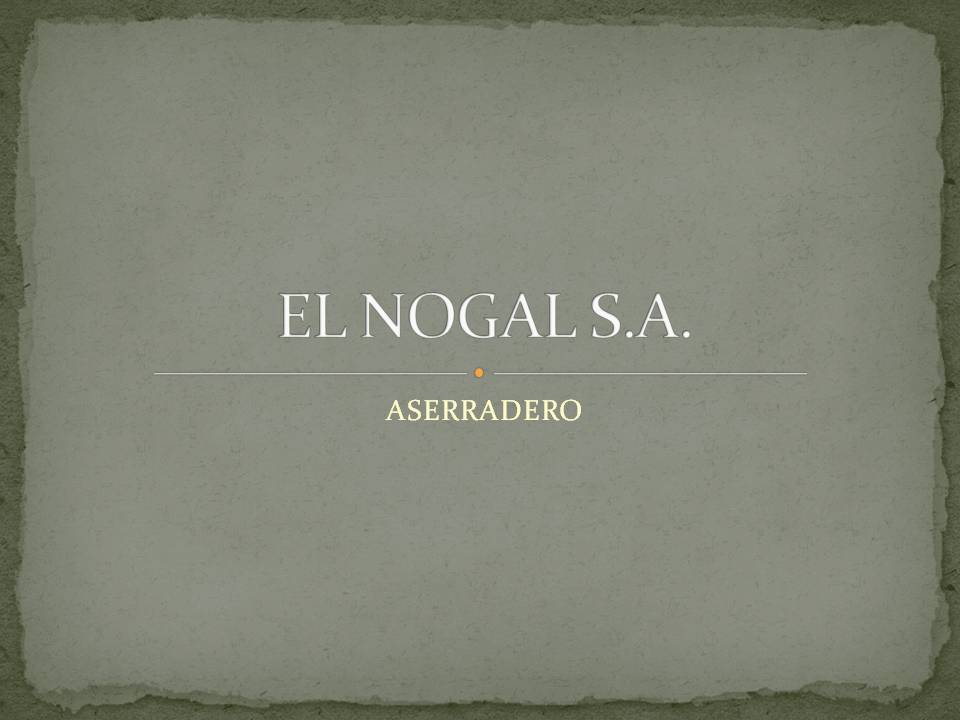 EL NOGAL S